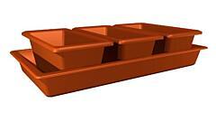 Minigarden 40 cm terakota