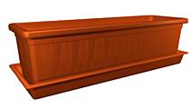 Self-irrigation window box Mičurin with wicks 40 cm (including Saucer) terracotta