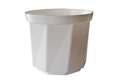 Decorative flower pot Rosa  13 cm white