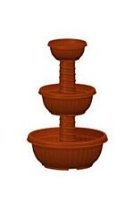 Standing tiered flower pot Kaskáda Floor  17 / 25 / 35 cm terracotta