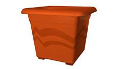 Square flower pot Quattro 20x20 cm terracotta