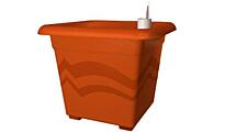 Square self-irrigation flower pot Quattro Aqua Pro 30x30 cm terracotta